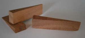 timber wedges, decking wedges